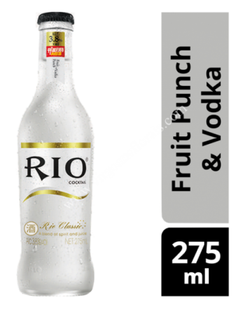 Rio Bottle Cocktail - Fruit Punch & Vodka 275ml