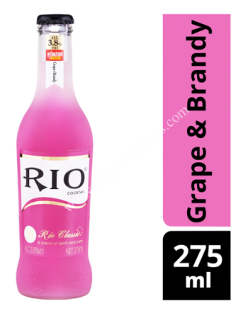 Rio Bottle Cocktail - Grape & Brandy 275ml