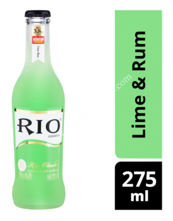 Rio Bottle Cocktail - Lime & Rum 275ml